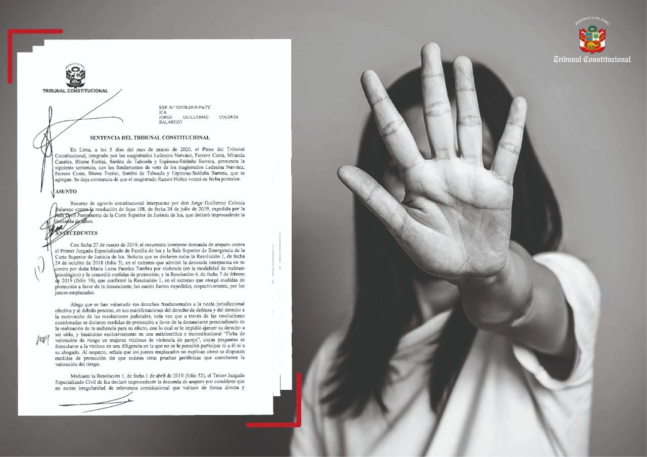 """TC: PROTECCIÓN JUDICIAL A MUJERES VÍCTIMAS DE VIOLENCIA SÍ SE PUEDE SUSTENTAR EN """"FICHA DE VALORACIÓN DE RIESGO"""""""