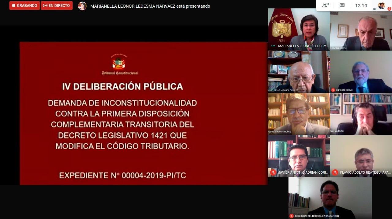 TC DECLARÓ INFUNDADA DEMANDA CONTRA LEY QUE MODIFICA CÓDIGO TRIBUTARIO