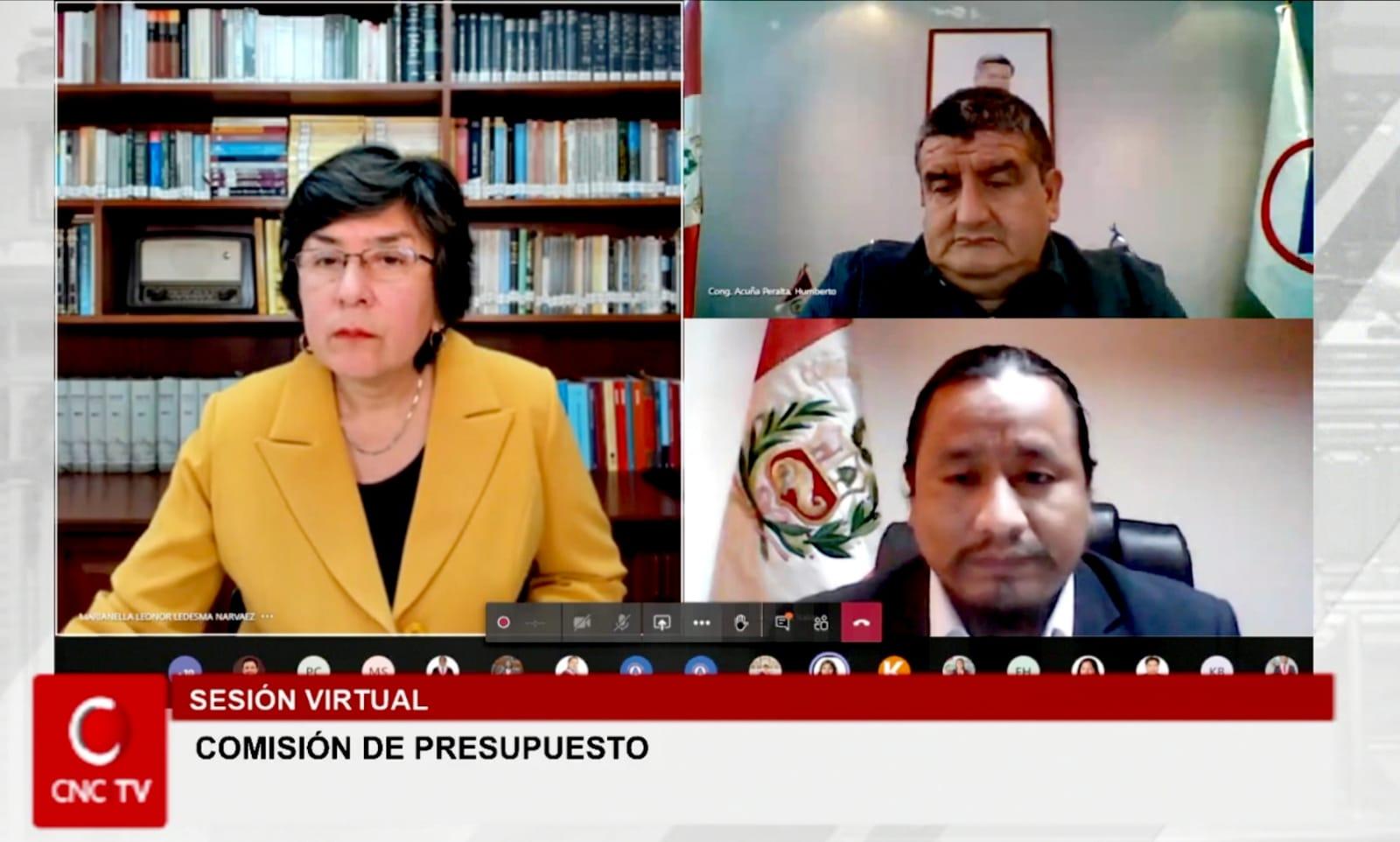 PRESIDENTA DEL TC SUSTENTÓ GASTO PÚBLICO DEL 2021 ANTE COMISIÓN DE PRESUPUESTO DEL CONGRESO